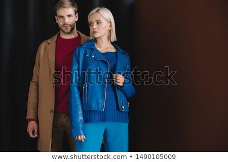Bearded man with woman in studio Stock photo © bezikus