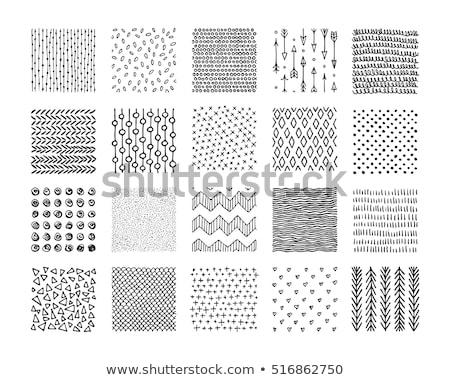 Abstrato triângulo forma preto linhas Foto stock © SArts