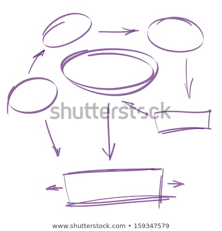 infograph bubble speech template with hand drawn sketches and a lot of infographic design stock photo © davidarts