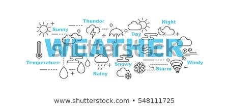 Snowflake Weather Icon Concept Stock photo © Krisdog