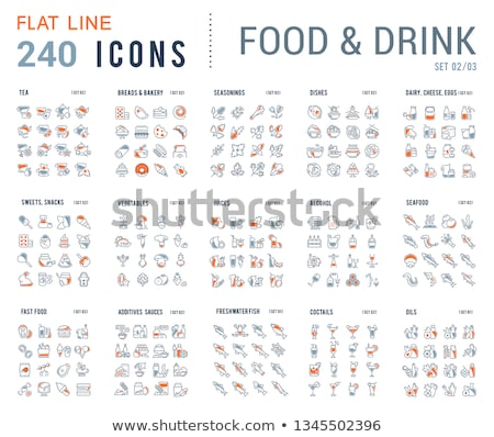 additional food line icons set stock photo © voysla