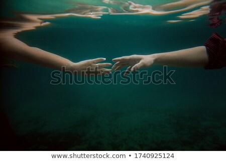 Erkek el dokunmak yüzme havuzu su yaz Stok fotoğraf © stevanovicigor