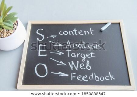 Stockfoto: Business Analytics Handwritten By White Chalk On A Blackboard