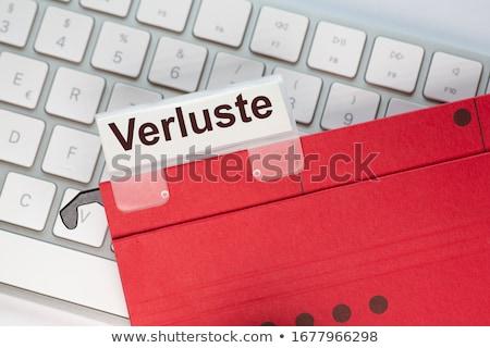 подвесной Label папке бизнеса Сток-фото © devon
