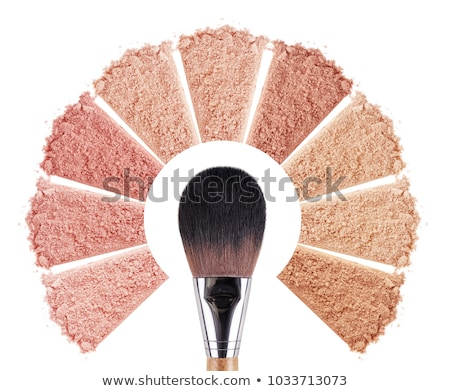 Makeup brushes set and foundation cream isolated Stock photo © manera