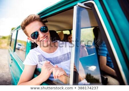 Kadın kamyonet pencere Stok fotoğraf © wavebreak_media