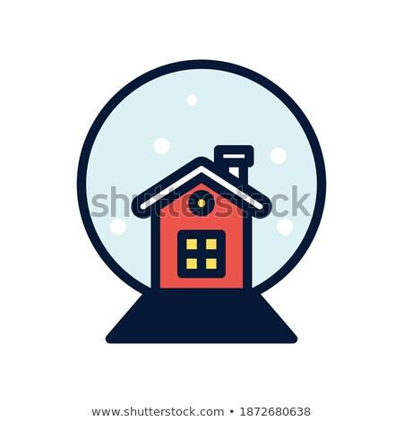 hó · földgömb · hóember · vektor · fa · boldog - stock fotó © imaagio