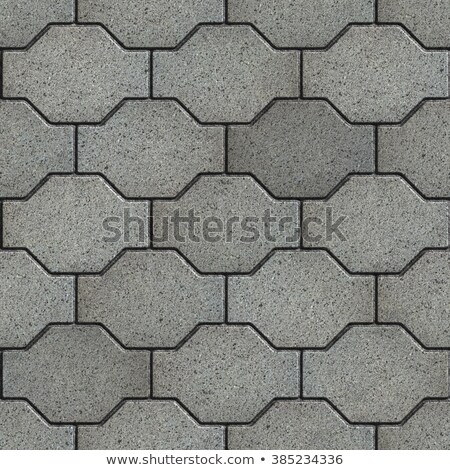 Gray with the Effect of Marble Wavy Paving Slabs. Stock photo © tashatuvango