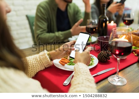 Man ignoring woman while dining Stock photo © wavebreak_media