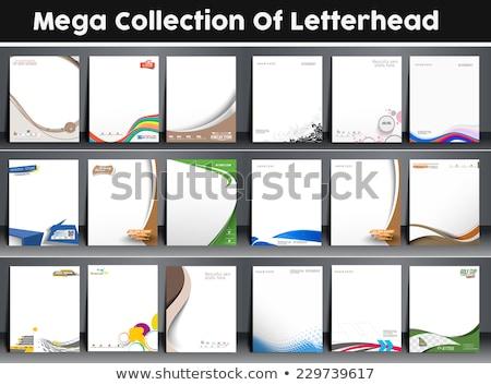Kreative Briefkopf Design-Vorlage Vektor abstrakten Corporate Stock foto © SArts