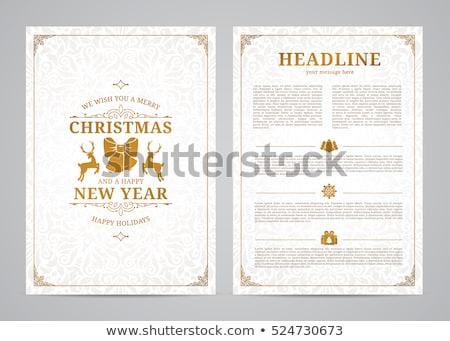 Prim neşeli Noel altın stil arka plan Stok fotoğraf © SArts