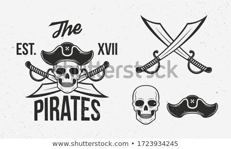 korsan · kılıç · imzalamak · yalıtılmış · el · dizayn - stok fotoğraf © popaukropa