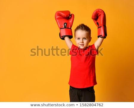 Küçük erkek boks eldivenleri sevimli bakıyor kamera Stok fotoğraf © LightFieldStudios