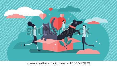 concept of friendship of domestic  Stock photo © Olena