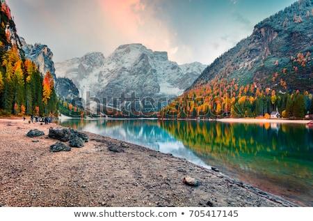 Photographer and autumn mountains Stock photo © wildman