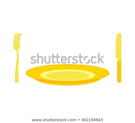Arany evőeszköz kés villa gazdag drága Stock fotó © popaukropa