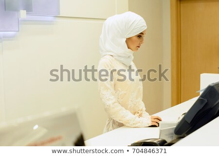 Arabisch hotel receptie bureau permanente corporate Stockfoto © studioworkstock