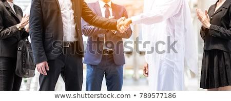 Stock fotó: üzleti · megbeszélés · arab · európai · üzletemberek · iroda · vállalati
