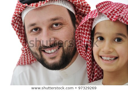 A Middle Eastern man with his children Stock photo © monkey_business
