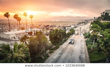 santa monica beach and pier los angeles county california usa stock photo © is2