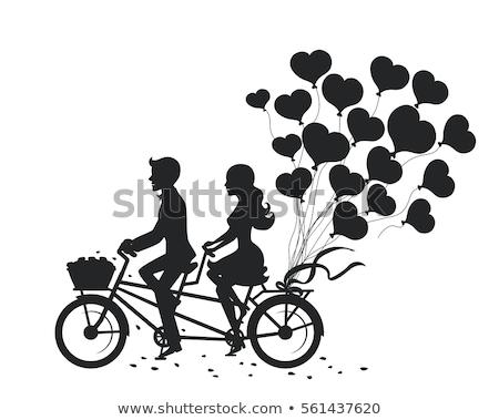 retro · amoroso · casal · homem · mulher - foto stock © NikoDzhi