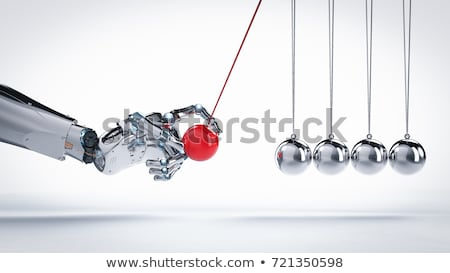 Robot Newtons Cradle Stock photo © limbi007