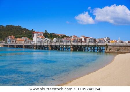 La eiland brug galicië Spanje landschap Stockfoto © lunamarina