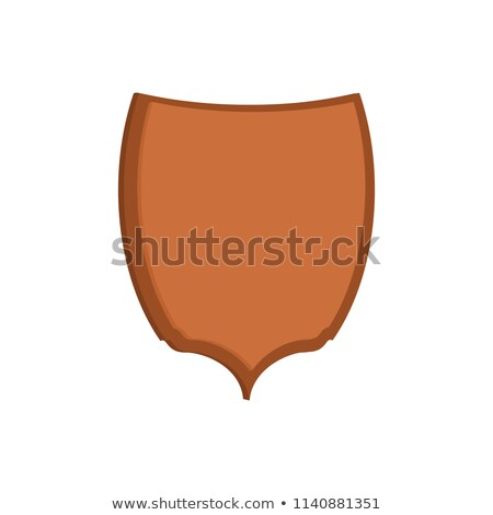 Wooden shield template for head animal hunting trophy Stock photo © popaukropa
