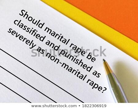 marital rape stock photo © lightsource