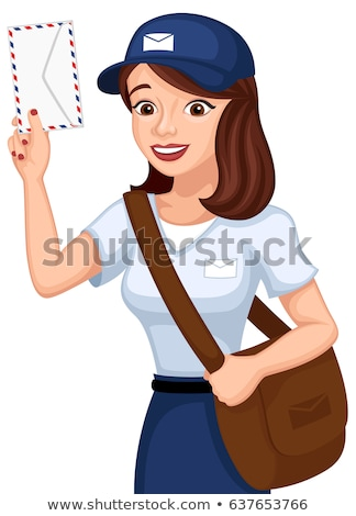 Cartoon Smiling Mail Carrier Woman Stock photo © cthoman