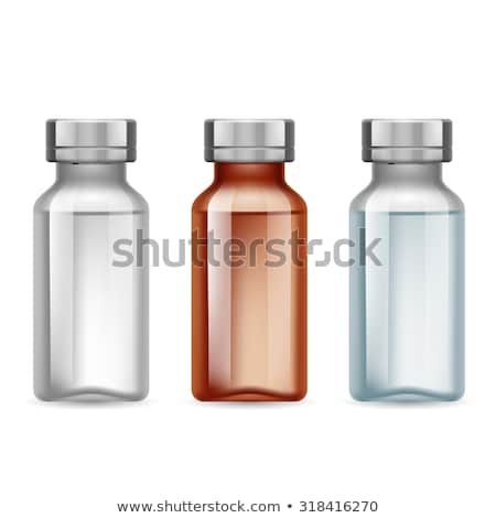leer · Glas · Flasche · Set · transparent · Kolben - stock foto © robuart
