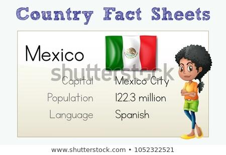 шаблон Мексика иллюстрация ребенка студент фон Сток-фото © colematt