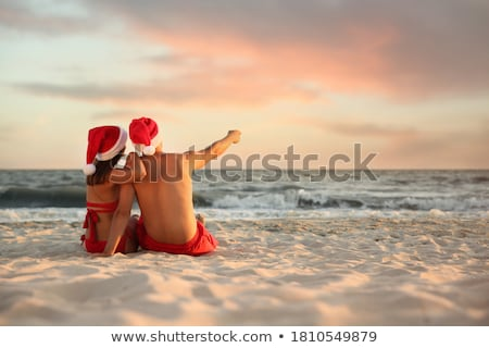 Stockfoto: Jonge · liefhebbend · paar · vergadering · buitenshuis · avond