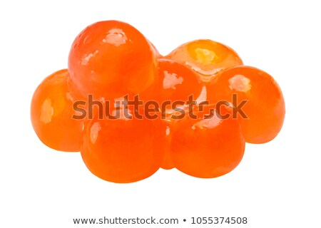 Extra small pile of salmon red caviar, path stock photo © maxsol7