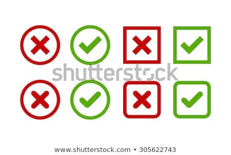 チェック · マーク · 緑 · 赤十字 · ベクトル · ステッカー - ストックフォト © blaskorizov