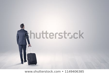 business · bagaglio · spazio · giovani · imprenditore · bianco - foto d'archivio © ra2studio