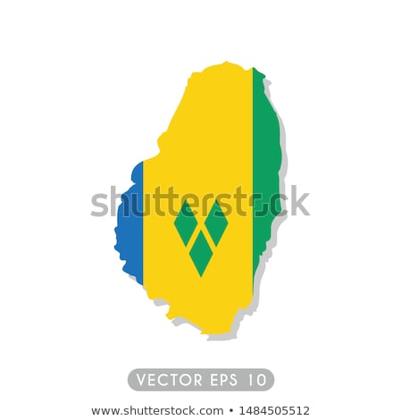 Santo bandiera isolato bianco tridimensionale Foto d'archivio © daboost