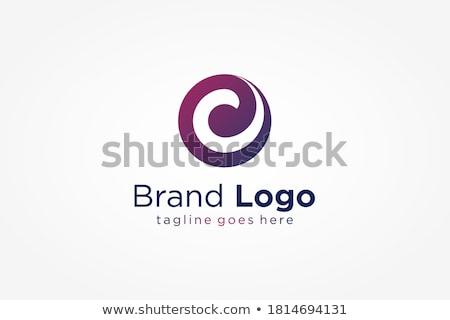 Futuristische paars oog symbool icon logo Stockfoto © kyryloff