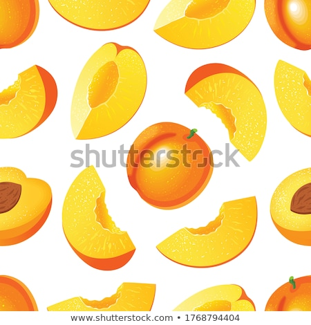 apricot and slices illustration stock photo © conceptcafe