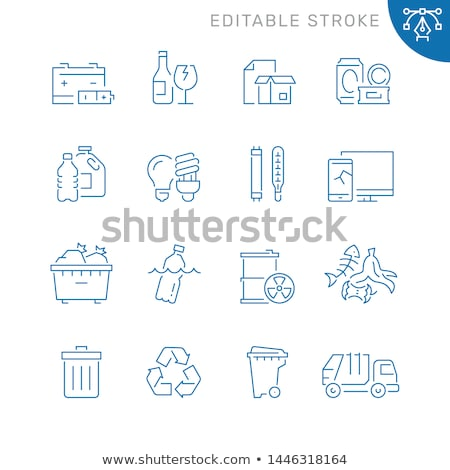 набор отходов контейнера иллюстрация автомобилей фон Сток-фото © bluering