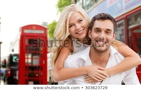 vrouw · kind · najaar · gelukkig · gezin · spelen - stockfoto © dolgachov