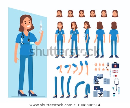 vector set of nurse Stock photo © olllikeballoon