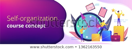 Time management header or footer banner. Stock photo © RAStudio