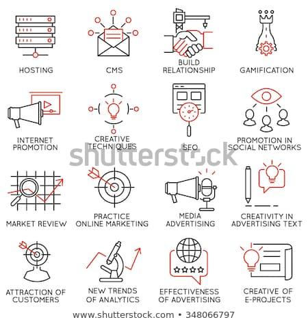 Marketing promotion programmation vecteur écran Photo stock © robuart