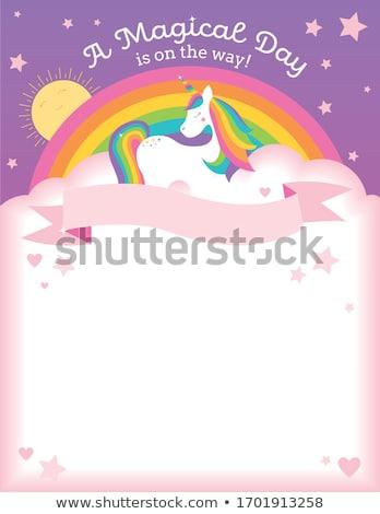 Dreaming unicorn theme image 3 Stock photo © clairev