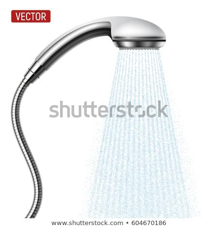 воды · душу · ванную · фон · синий - Сток-фото © andreypopov
