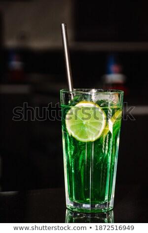 коктейль стекла служивший Cut извести соломы Сток-фото © robuart
