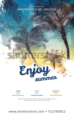 Stock photo: summer vacation poster design background