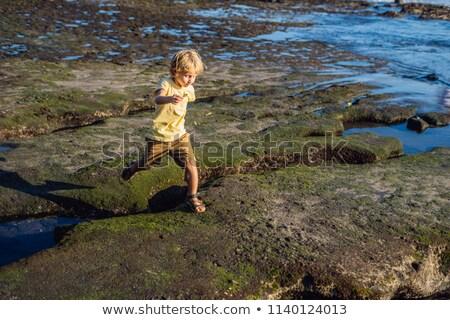 мальчика играет космический Бали пляж портрет Сток-фото © galitskaya