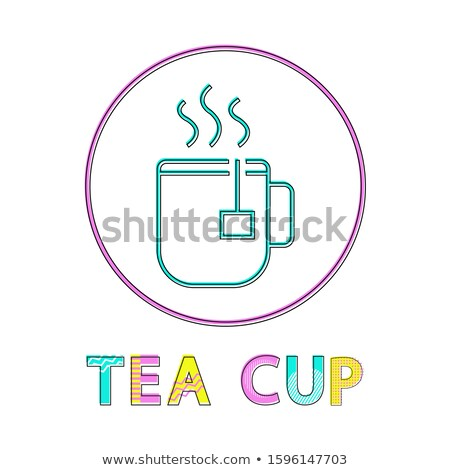 Steaming Cup with Hot Tea Beverage Lineout Icon Stock photo © robuart